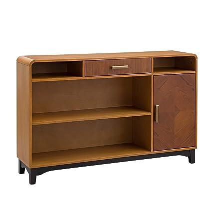 Amazon Com Furniture Hotspot Two Tone Credenza Sideboard Buffet