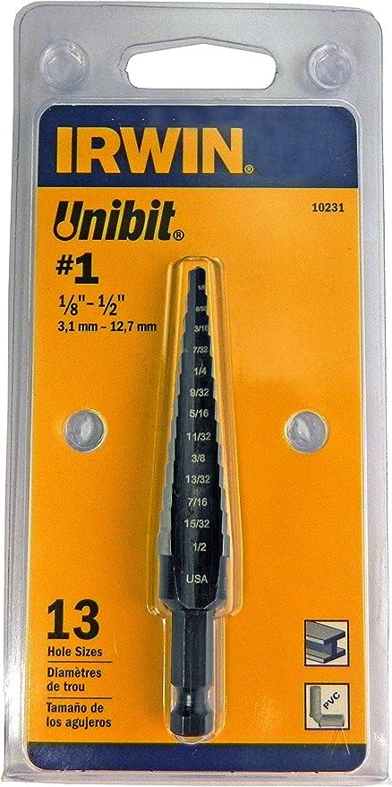 "Step Drill 1//8/"" 1//2/"" inch Titanium Bit 1//32/"" Increments"