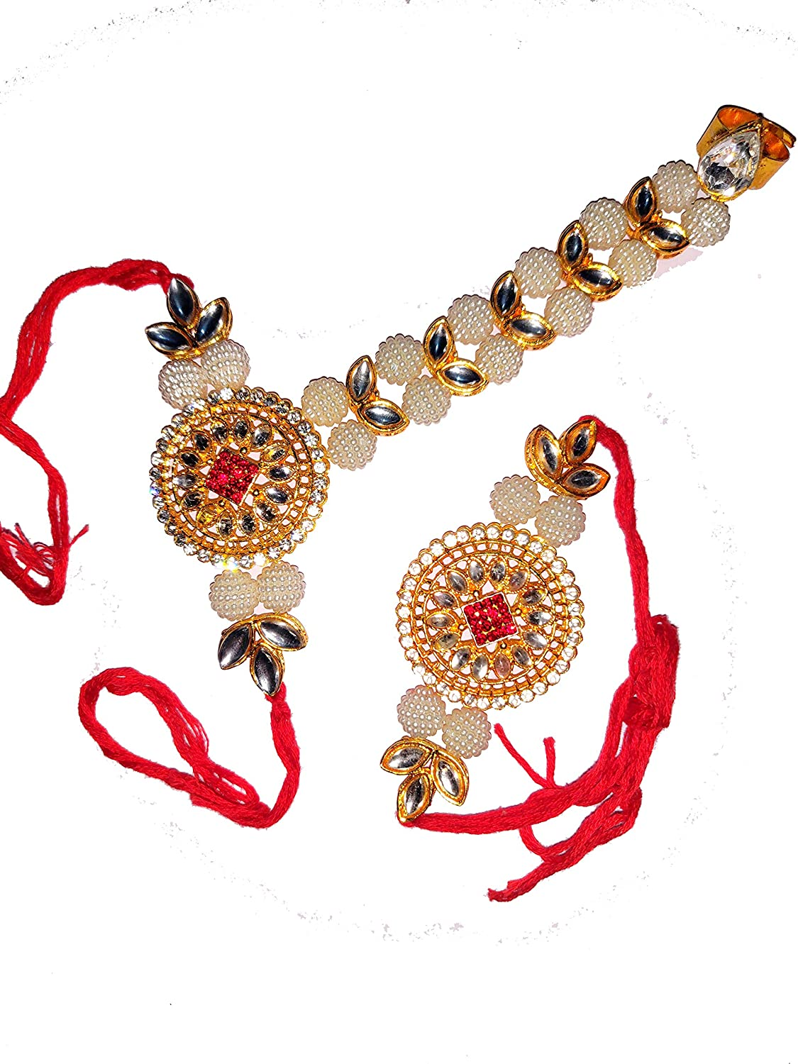 Rakhi Threads//Rakhi Bracelets//Rakhi for Brother Bhabhi on Indian Rakhi Rakshabandhan Festival Best Gift for Brother on Rakshabandhan Rakhi Bands 2 Pcs Rakhi for Bhaiya