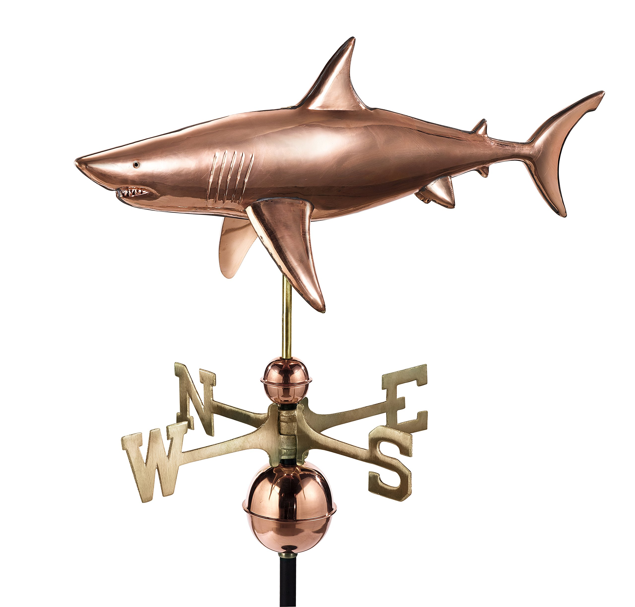 Good Directions Shark Weathervane, Pure Copper