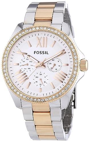 Fossil Reloj Análogo clásico para Mujer de Cuarzo con Correa en Acero Inoxidable AM4496: Fossil: Amazon.es: Relojes