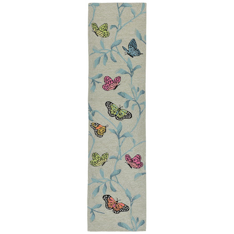 Blue 2 X 3 Liora Manne RVL23227004 2270//04 Aqua Ravella Birds On Branches Indoor//Outdoor Rug