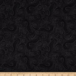 StudioE Quilt Fabrics 0554791 Just Color Swirl Basic Quilt Fabric By The Yard, Onyx