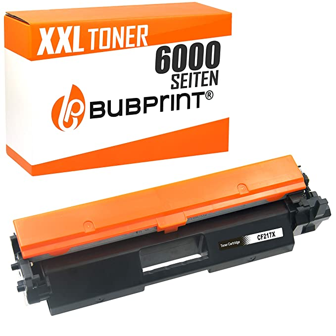 Bubprint - Tóner XXL compatible con HP CF217X CF 217 X 17X para ...