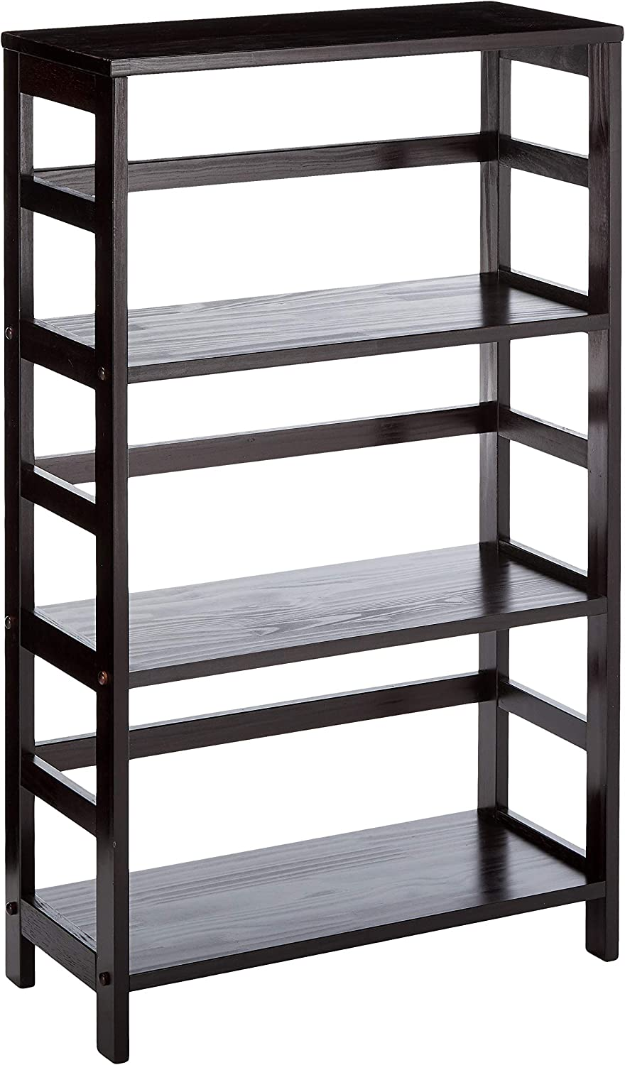 Winsome Wood 92425 Leo Model Name Shelving, Small, Espresso