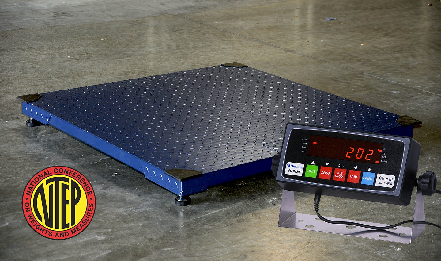 Certified NTEP 1000lb/0.2lb 24''x24'' Legal For Trade Floor Scale with Indicator Manufactory Calibrated
