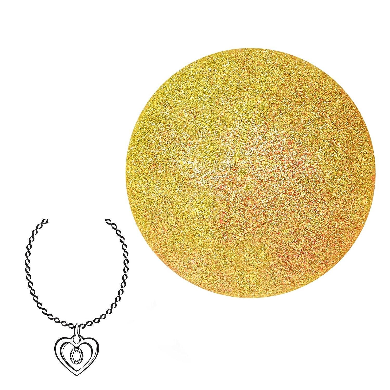 JewelBath Golden Sparkles - Boule de bain avec bijou surprise (collier avec pendentif en argent, soin hydratant) JuwelKerze JewelCandle GmbH