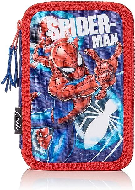 Marvel Spiderman Estuche para Niños, Triple Capa Contiene Reglas, Sacapuntas, Goma, Lápices para Colorear, etc, Regalo para Niños, 43 Piezas!: Amazon.es: Oficina y papelería