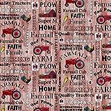 Farmall Tractor Cotton Fabric-Farmall Cotton Quilting Fabric-Farmall Hometown Life Collection (Farmall