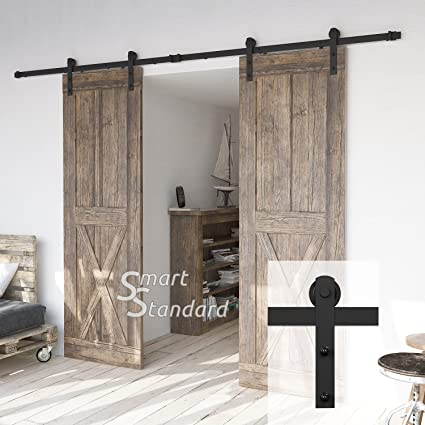 Ordinaire 10ft Heavy Duty Double Door Sliding Barn Door Hardware Kit   Super Smoothly  And Quietly