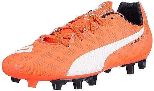 855cba0ea0110c Puma Unisex Kids  evoSPEED 5.4 FG Jr Football boots (training) Orange Size