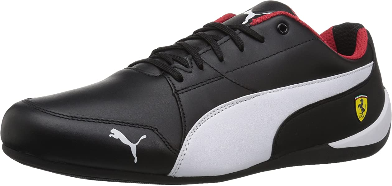 Amazon.com  PUMA Men s Ferrari Drift Cat 7 Sneaker White Black c2d47496f