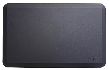 Prism Anti Fatigue Mat Ergonomic Mat For Kitchen Standing Desk Workstations And Djs Unique Design Reduces Body Joint Stress And Pain Black