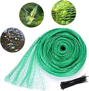 Philonext Anti-Bird Netting,Garden Plant Netting,Bird Netting Heavy Duty Nylon (13Feet x 33Feet) Suit for Seedling,Vegetables,Flowers,Fruit,Bushes,Reusable Fencing Garden Plant Fruits Fencing mesh