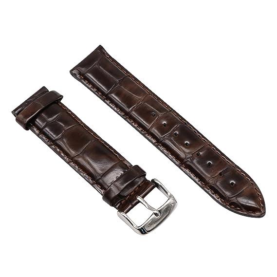 correa de banda de reloj de cuero clásico para las mujeres de 17 mm elegante correa