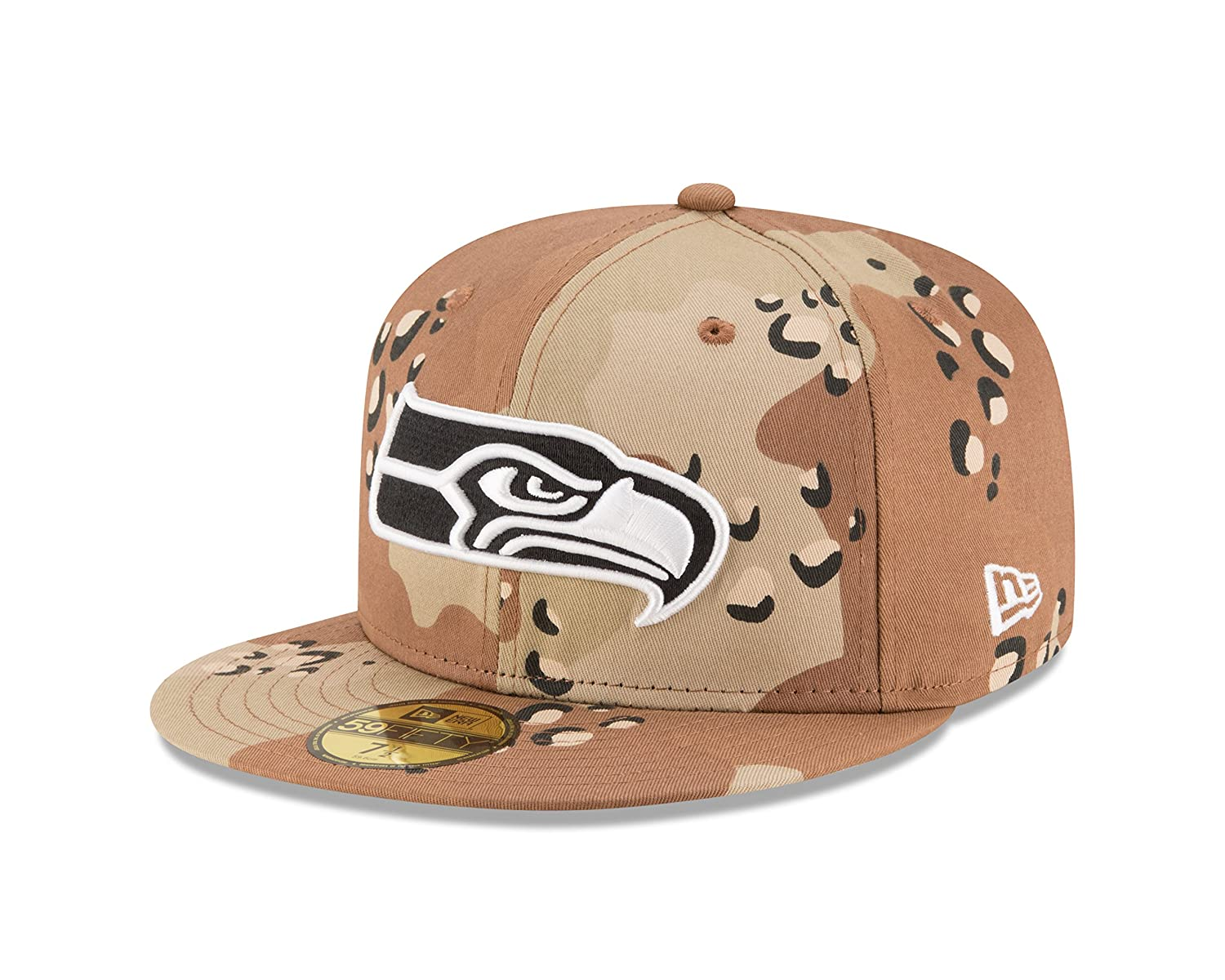 Amazon.com   New Era NFL Seattle Seahawks League Basic 6 59FIFTY Fitted Cap be18660b7