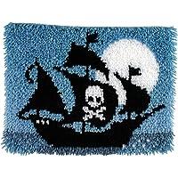 Spinrite Wonderart Latch Hook Kit, 15 by 20-Inch, Pirate Ship