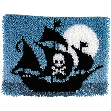 Wonderart Latch Hook Kit 15 X20 Pirate Ship