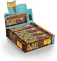 Awake Caffeinated Chocolate Energy Bar, Milk Chocolate, 12 Count