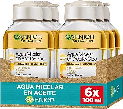 Garnier Skin Active - Agua Micelar en Aceite, Elimina el ...