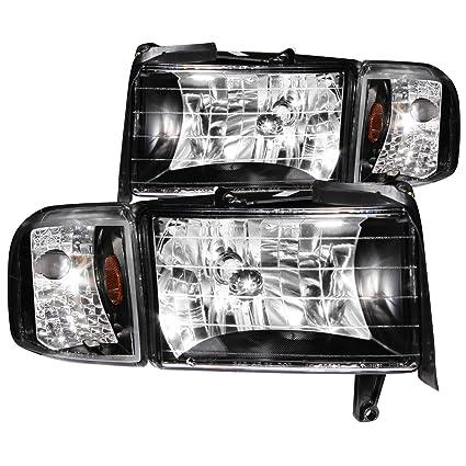 Amazon.com: 1994-2001 Dodge Ram Headlights + Corner Signal Lamps + 8 ...