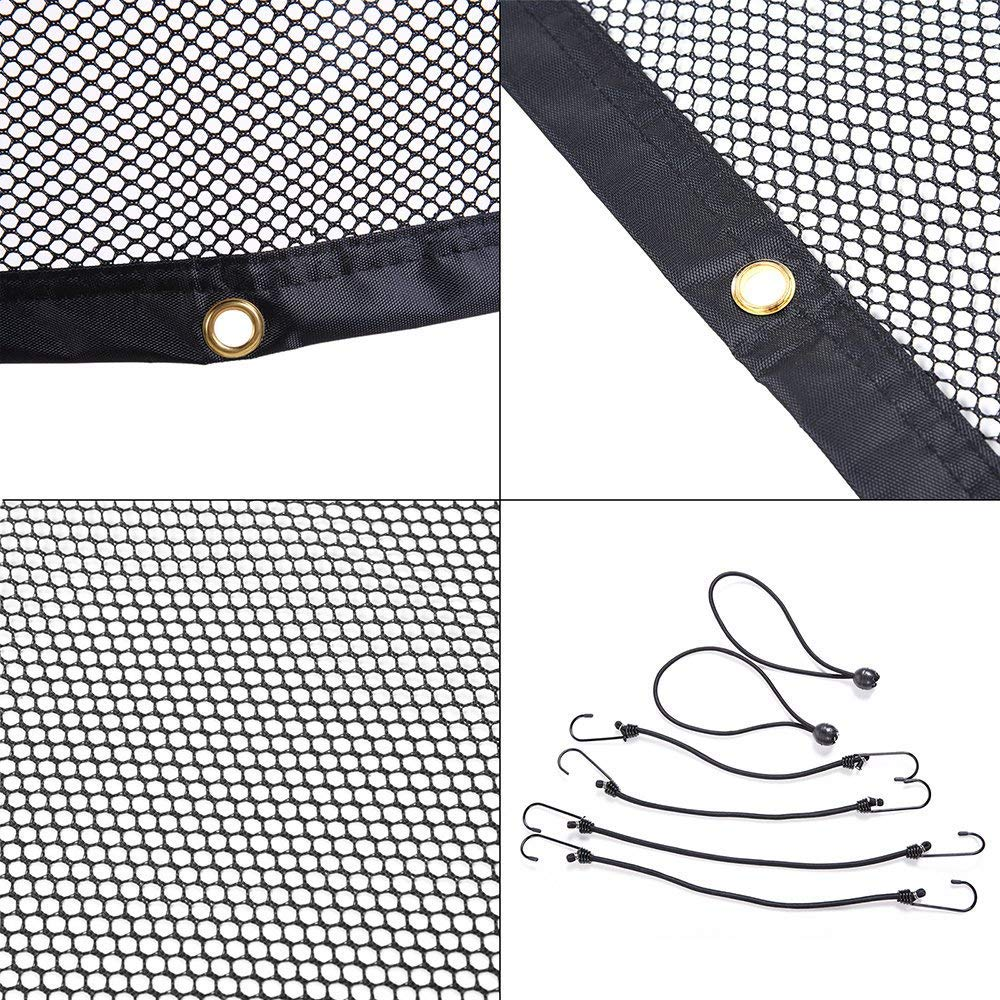 Ecent Pet net for cars Pet Barrier Car Safety Net with Hooks and Straps 115 x 62 cm