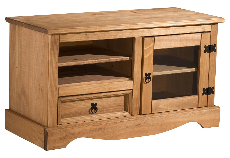 Beau Birlea Corona Entertainment Unit/TV Stand   Waxed Pine: Amazon.co.uk:  Kitchen U0026 Home