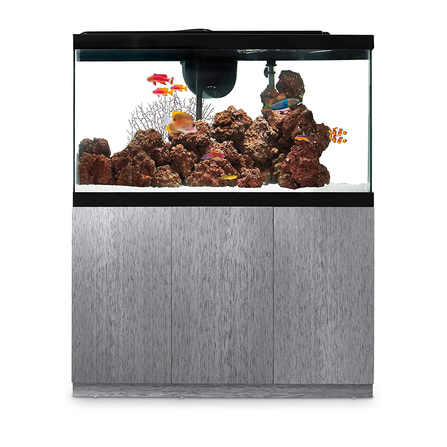 Imagitarium Brushed Steel Look Fish Tank Stand, Up to 55 Gal, 14.25 in