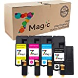 7Magic 4-Pack New Compatible Toner Cartridge Replacement for Dell 1250c 1350cnw 1355cn 1355cnw C1760nw C1765nf C1765nfw Printer Series (High Yield, BCMY / 1Set)