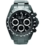 [ダニエルミューラー]DANIEL MULLER 腕時計 BLACK DIAL/SILVER EYES クロノグラフ ブラック×シルバー DM-2027BKS メンズ