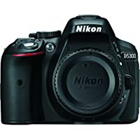 Nikon D5300 24.2 MP CMOS Digital SLR Camera with Built-in Wi-Fi and GPS Body Only (Black)