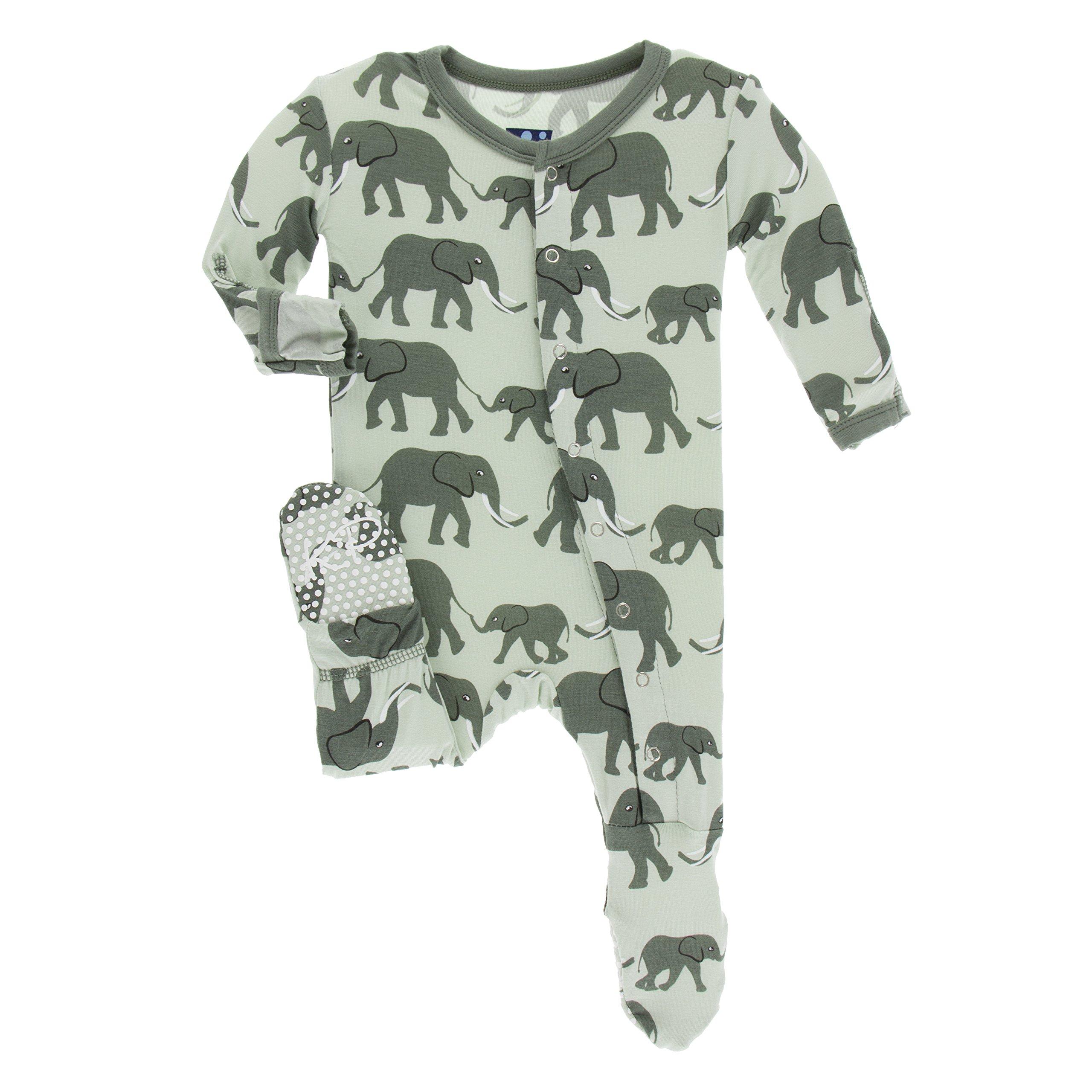 Kickee Pants Baby Girls Print Footie Prd-kpf175-kwl