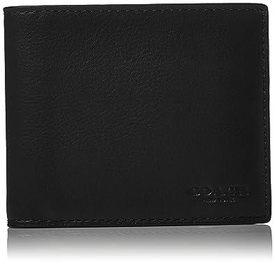 303addf5c492 Amazon.com  COACH Men s Leather 3-in-1 Wallet Set Black Black One ...