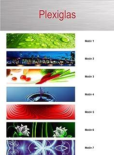 Küchenrückwand aus Plexiglas - Motiv: bunte Quadrate - Format 60 x ...