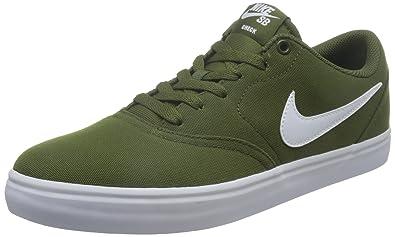 Nike Men'S Nike Sb Check Solarsoft Canva legion green