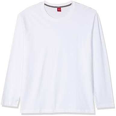 s.Oliver Big Size Herren Langarmshirt 15709315805, Weiß (White 0100), XX