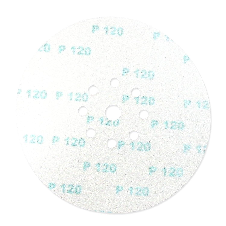 S/&R 10 Discos de Lija en Papel Abrasivo con Velcro /Ø 225 mm Grano 120