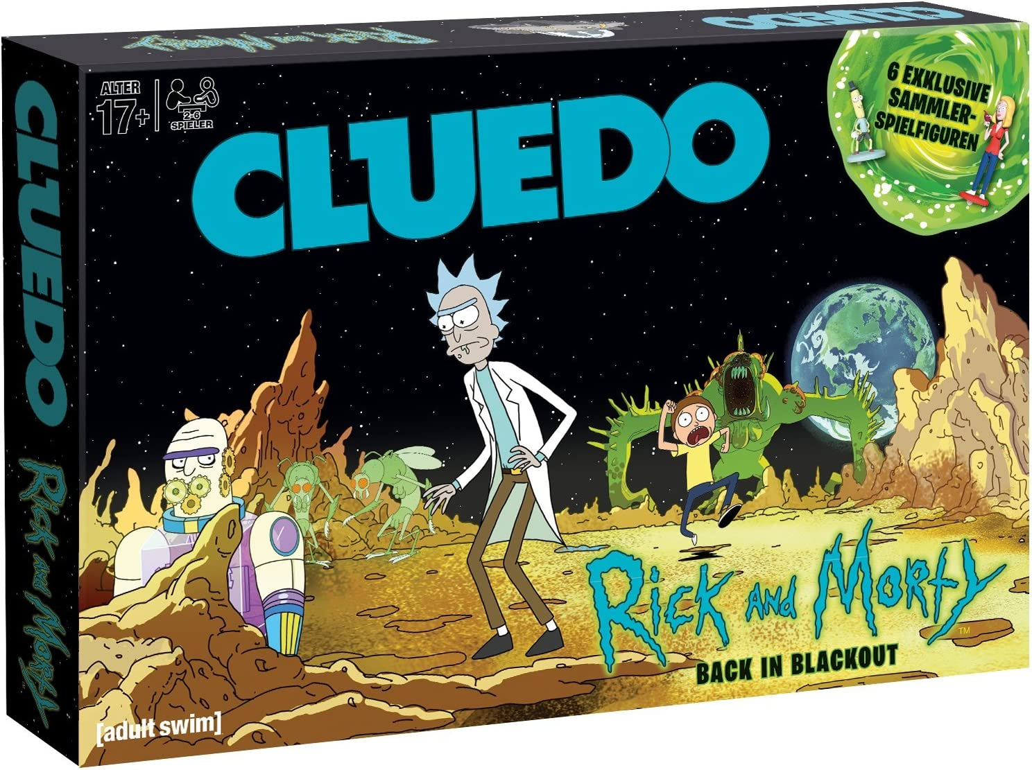 Winning Moves- Cluedo-Rick und Morty Juego de Mesa, Multicolor ...