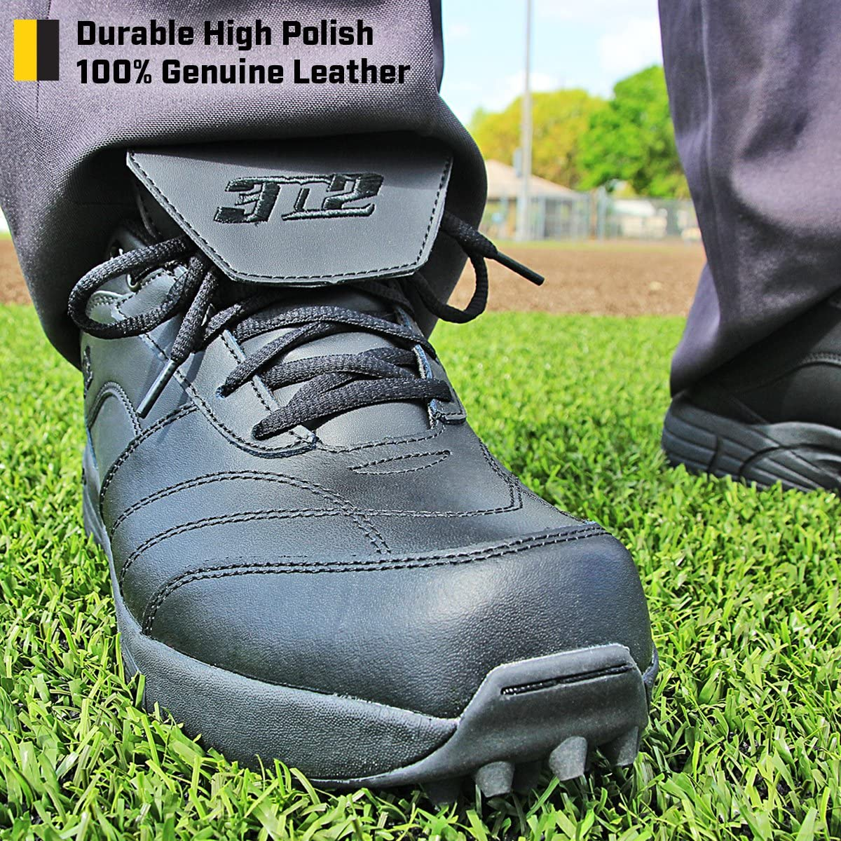 D /& EE Widths Reaction Field Lo 3N2 Mens Umpire Shoe Black