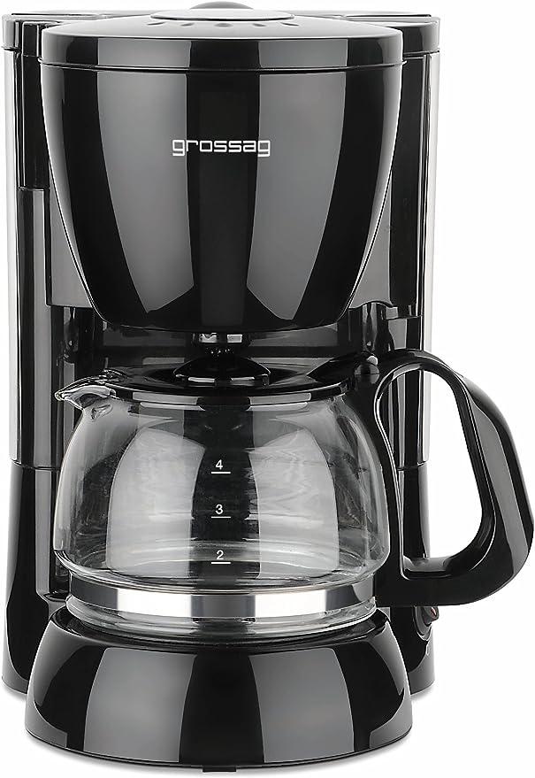 Grossag 1306 KA 12.17 - Cafetera eléctrica con jarra de cristal (4 ...