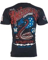 AFFLICTION Mens T-Shirt KISS DEATH American Customs USA FLAG Biker UFC