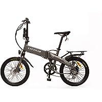 Littium Bicicleta eléctrica Ibiza Titanium 14A, Adultos Unisex, Titanio, Plegable