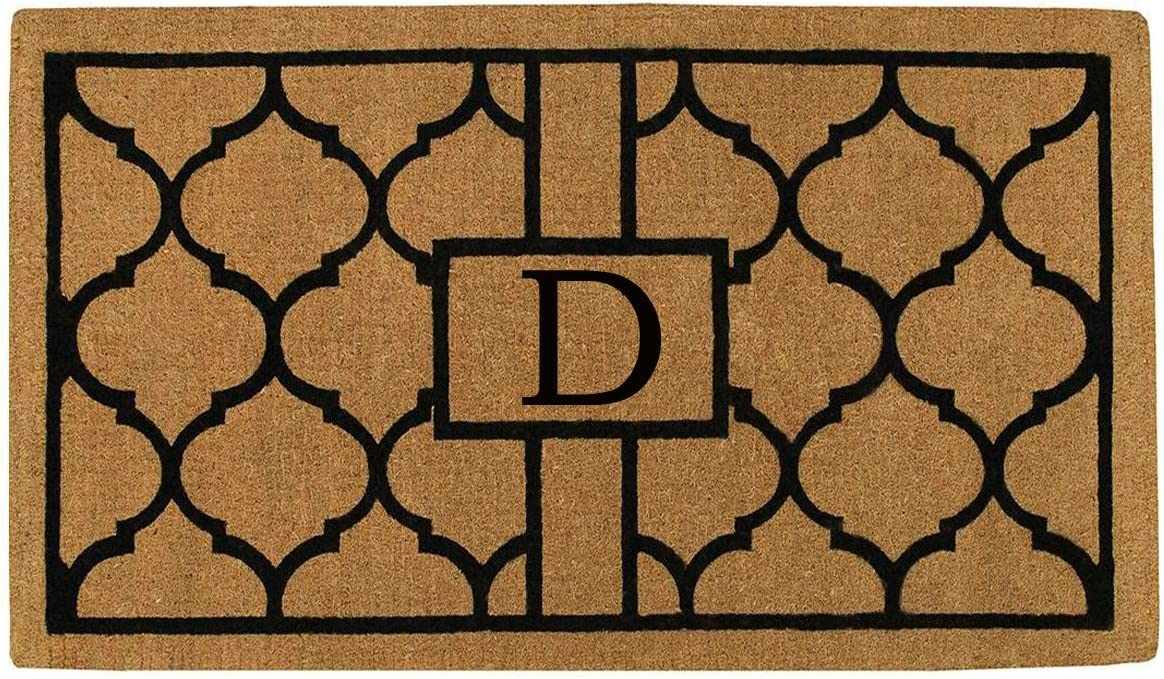 Home More 180082436D Pantera 2 X 3 Extra-Thick Monogrammed Doormat Letter D