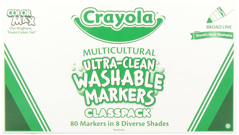 Amazon.com: Crayola; Classpack; Ultra-Clean; Multicultural Broad ...