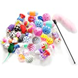 Ballmie Pet Cat Toys Variety Pack 15/20/30 Units,Interactive toys for cats, Kitten toys, best cat toys for exercise, cat toy teaser wand, Cat Thanksgiving Gift, Pet Christmas Gifts