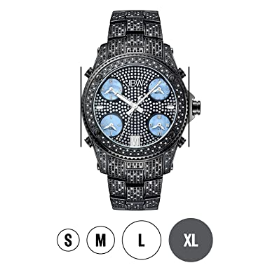 760625fd75c Amazon.com  JBW Luxury Men s Jet Setter 2.34 Carat Diamond Wrist Watch with  Stainless Steel Link Bracelet  JBW  Watches