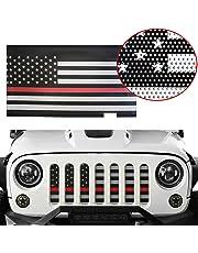 42c531e9 MOEBULB Mesh Grille Insert Steel American Flag Front Grill for 2007-2018  Jeep Wrangler JK