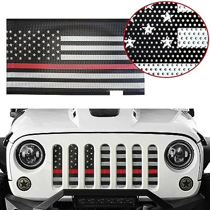Amazon Com Moebulb Mesh Grille Insert Steel American Flag Front