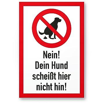 Perros Cartel Du scheißt aquí No Hin - Pradera, señal de ...