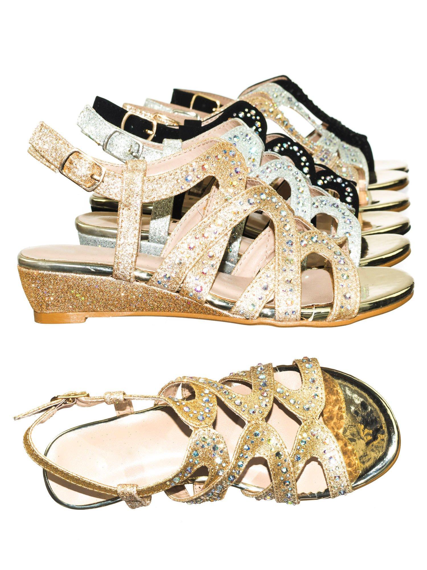 Aquapillar Children Girls Glitter Rhinestone Open Toe Party Wedding Dress Sandal